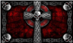 Pirate Cross Skull Large Flag - 5' x 3'